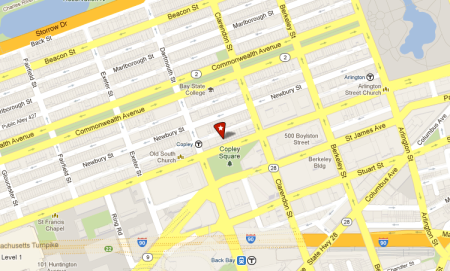 Located in copley square boston copley oral surgery - 100 clarendon street garage ...